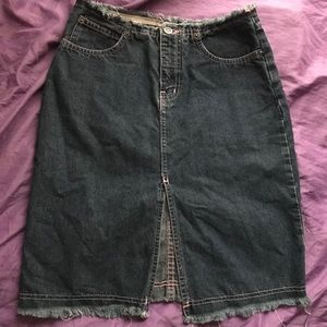 Highwaisted Jean skirt
